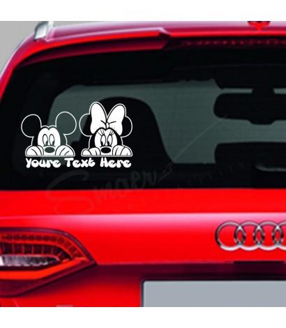 Sticker Auto Mickey&Minnie