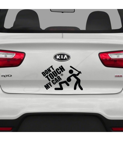 Sticker Auto Don't Touch My Car