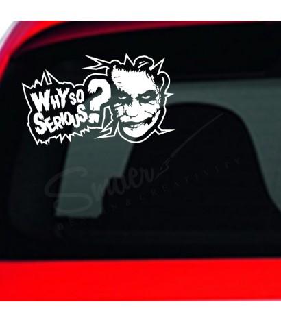 Sticker Auto Joker Why So Serious
